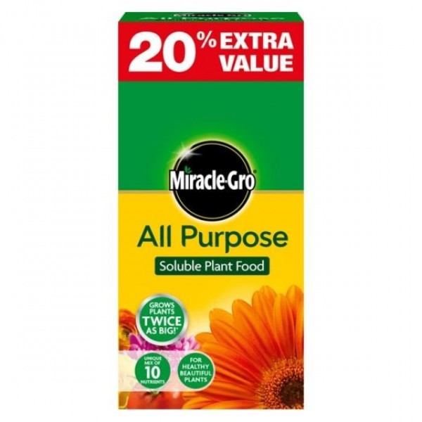 Miracle-Gro All Purpose Soluble Plant food - 1kg +20% free