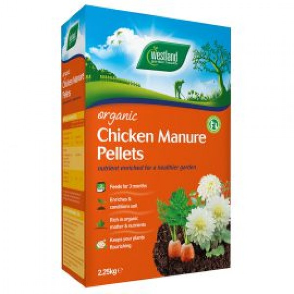 Chicken Manure - Organic - Westland - 2.25kg 2 boxes for £7 - Special