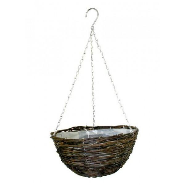 """Hanging Basket -  Rattan -14"""" -x1"""