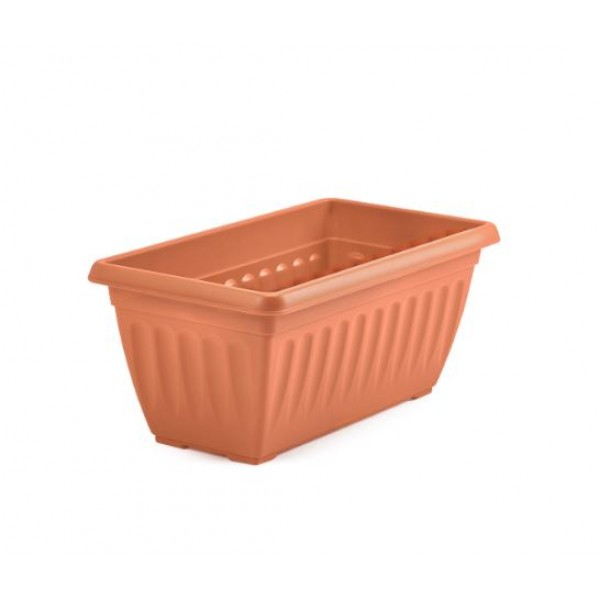 Window box trough - Plastic - Athens Terracotta - 40cm
