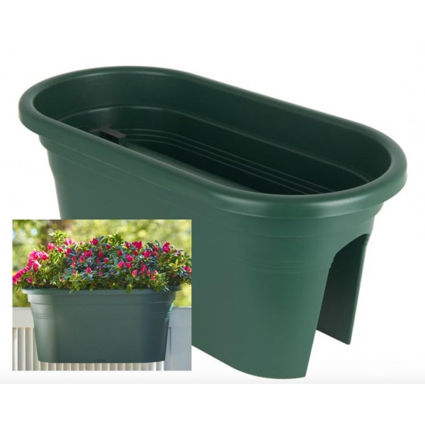 Balcony Trough - Plastic - Green - 60cm