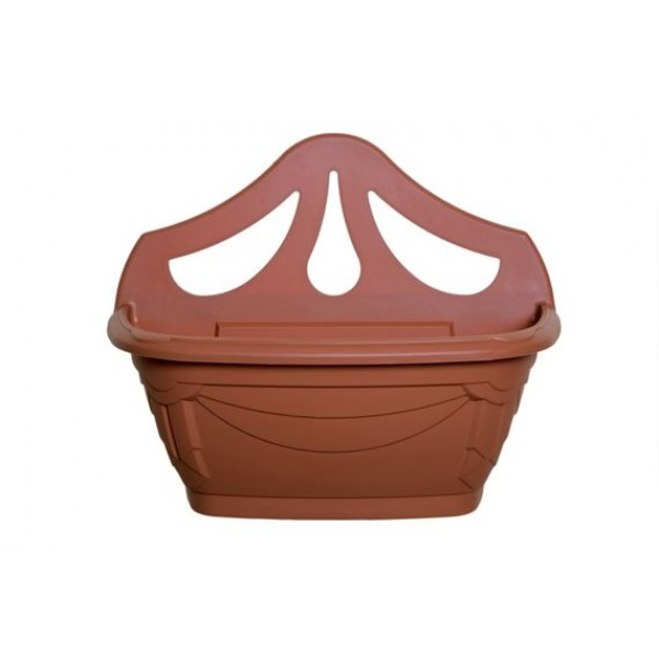 Wall planter - Plastic - Terracotta - 42cm