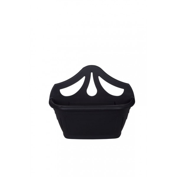 Wall Planter - Plastic - Black - 42cm