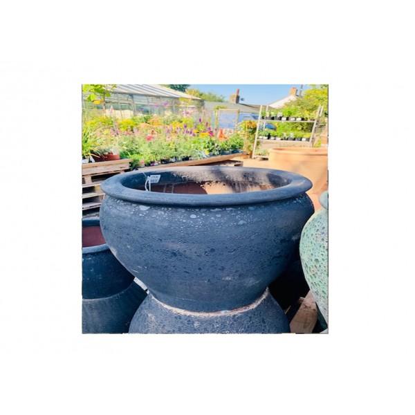 Vintage Black Bell Pot