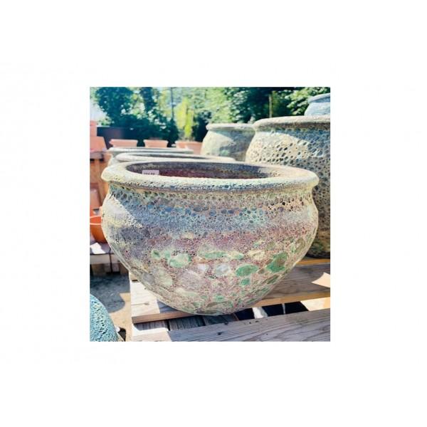 Vintage Green Bell Pot