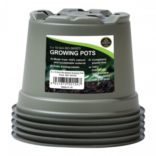 Growing Pots - Bio Based 10.5cm -x5