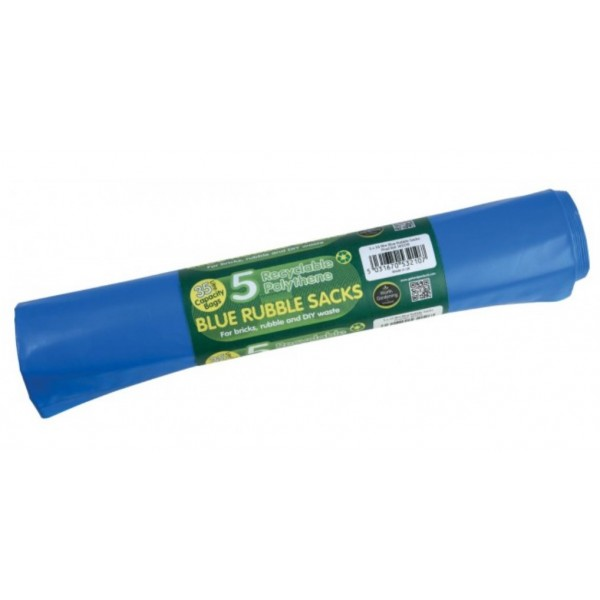 Bags - Sacks Blue Rubble 35L (5 Per Roll) - x1