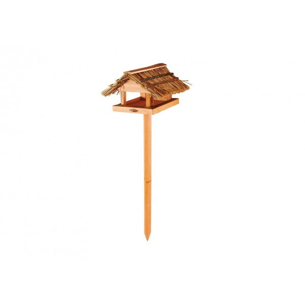 Bird Table with Thatched Roof