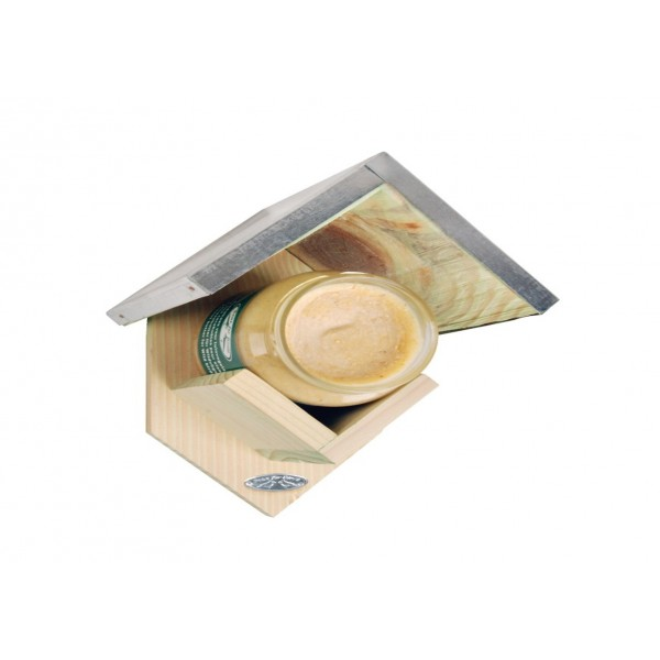 Peanut Butter Feeder with Zinc Roof